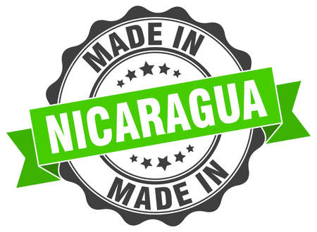 nicaragua: made in Nicaragua round seal