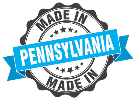 made in Pennsylvania round seal  イラスト・ベクター素材