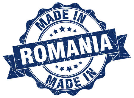 made in Romania round seal
