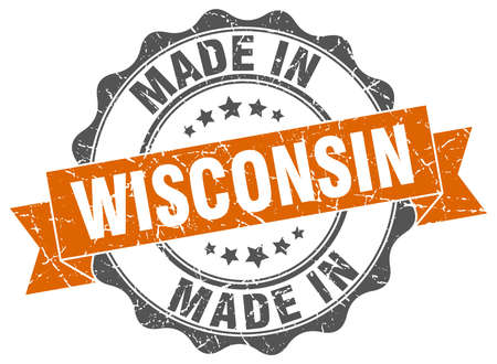 made in Wisconsin round seal Illustration
