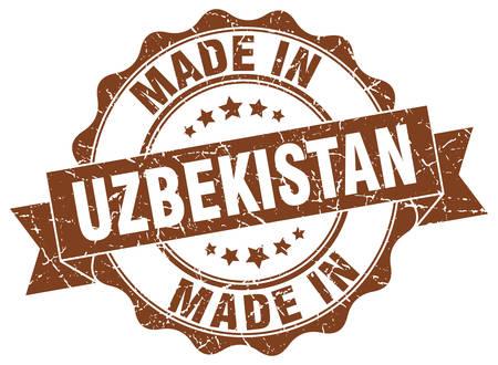 made in Uzbekistan round seal