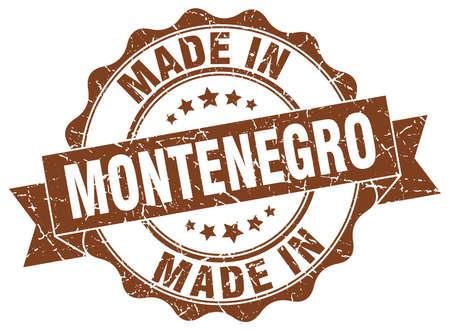 made in Montenegro round seal