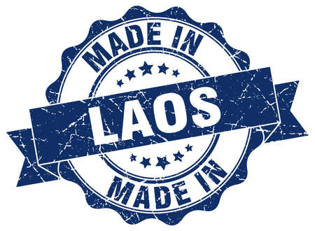 made in Laos round seal