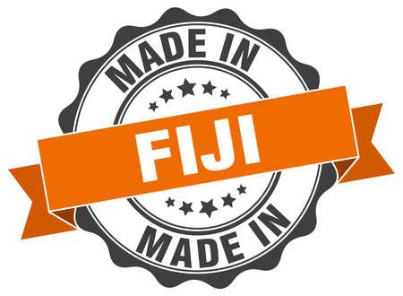 Gemacht in Fidschi Runddichtung Standard-Bild - 75657983