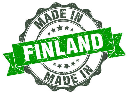 made in finland: Made in Finland round seal Illustration