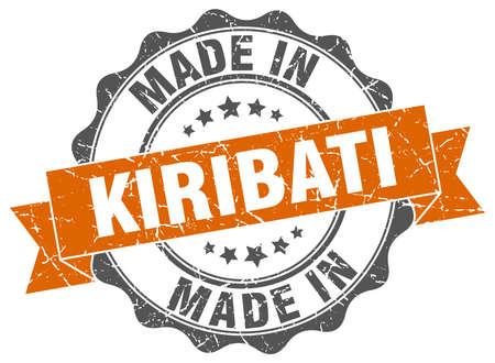 Made in Kiribati round seal