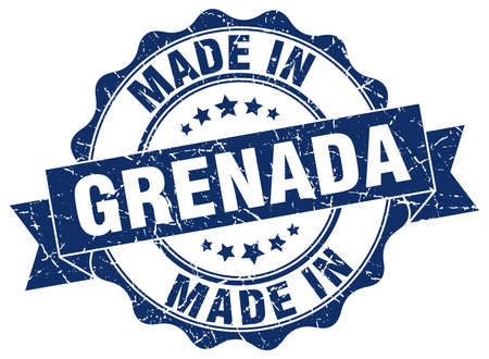 Made in Grenada round seal Illustration