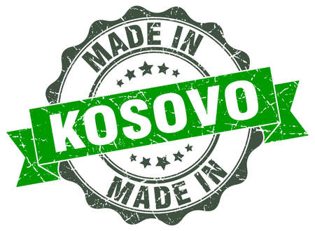 Made in Kosovo round seal