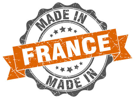 Made in France round seal