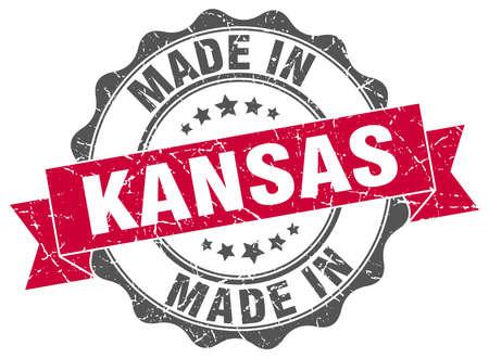 kansas: Made in Kansas round seal