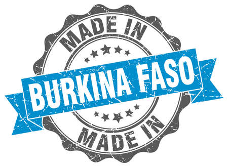 made in Burkina Faso round seal