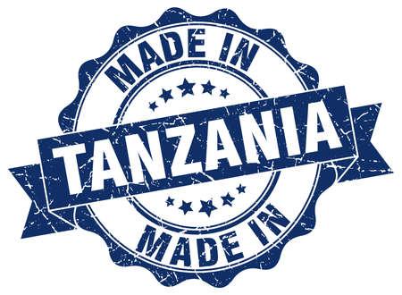 tanzania: made in Tanzania round seal