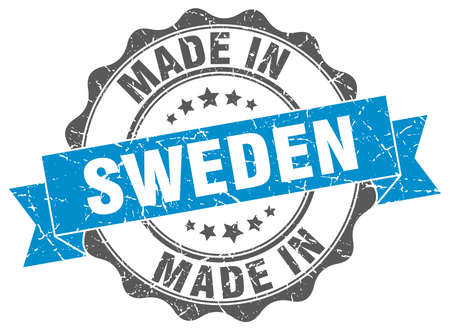 made in Sweden round seal