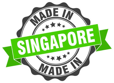 made in Singapore round seal