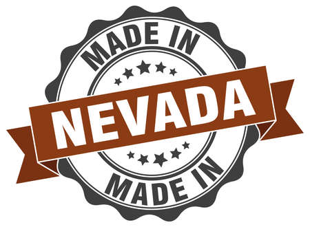 nevada: made in Nevada round seal