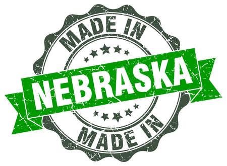 made in Nebraska round seal Illustration