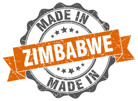 made in Zimbabwe round seal Illustration