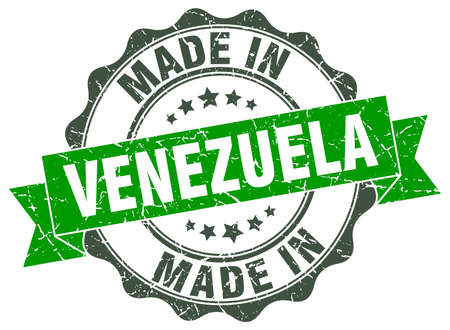 made in Venezuela round seal