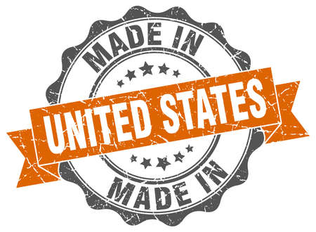 made in United States round seal Illustration