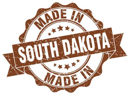 made in South Dakota round seal Illustration