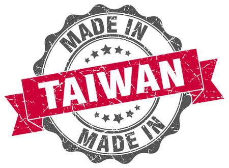 fatto nel sigillo rotondo di Taiwan