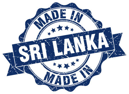 made in Sri Lanka round seal