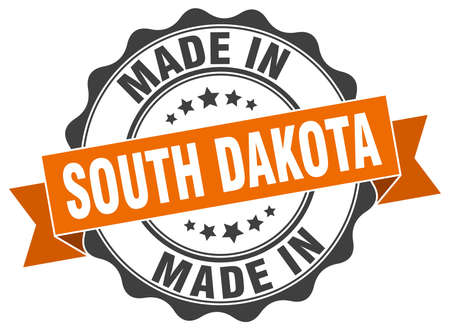 made in South Dakota round seal Illustration