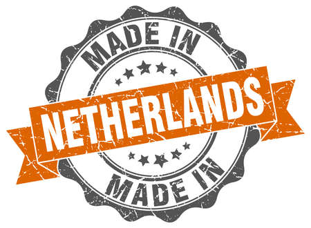 made in Netherlands round seal Illustration