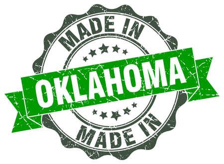 oklahoma: made in Oklahoma round seal