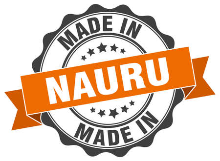 made in Nauru round seal