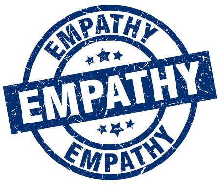 empathy: empathy blue round grunge stamp Illustration