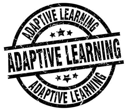adaptive learning round grunge black stamp Illustration