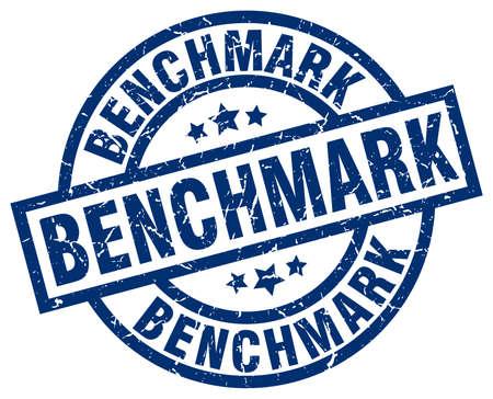 benchmark: benchmark blue round grunge stamp
