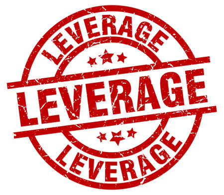 leverage: leverage round red grunge stamp Illustration