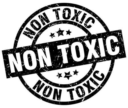 non toxic round grunge black stamp