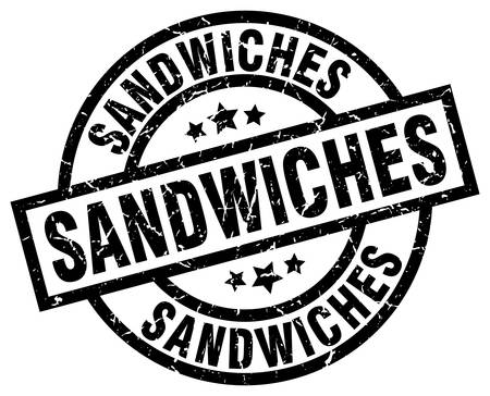 sandwiches round grunge black stamp