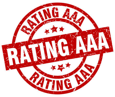 rating: rating aaa round red grunge stamp