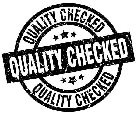 checked: quality checked round grunge black stamp