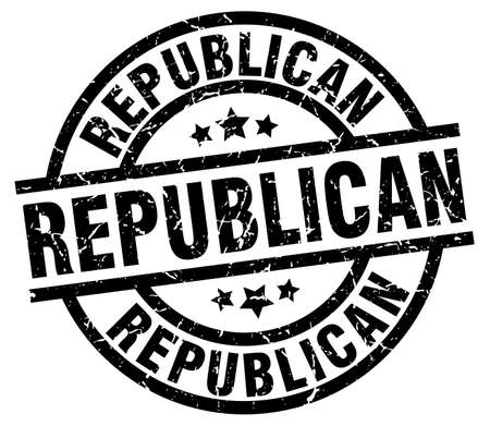 republican round grunge black stamp Illustration