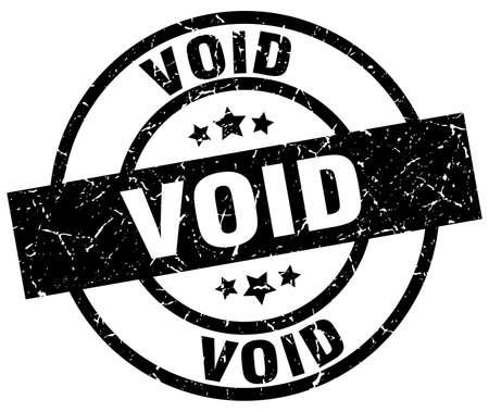 Void round grunge timbre noir Vecteurs