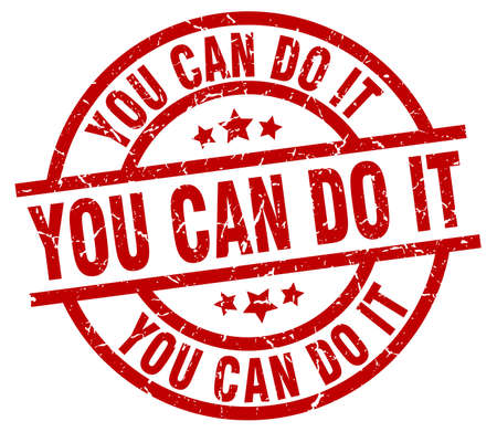 you can do it round red grunge stamp