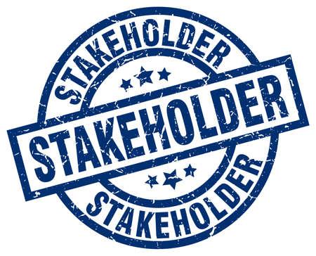 stakeholder: stakeholder blue round grunge stamp