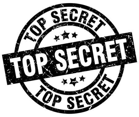 top secret round grunge black stamp