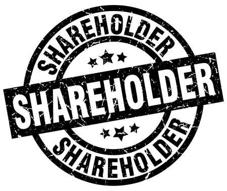 shareholder: shareholder round grunge black stamp Illustration