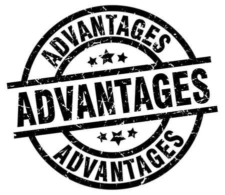 advantages: advantages round grunge black stamp
