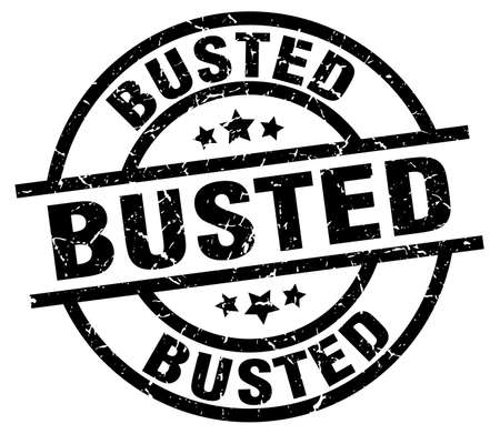 busted: busted round grunge black stamp Illustration