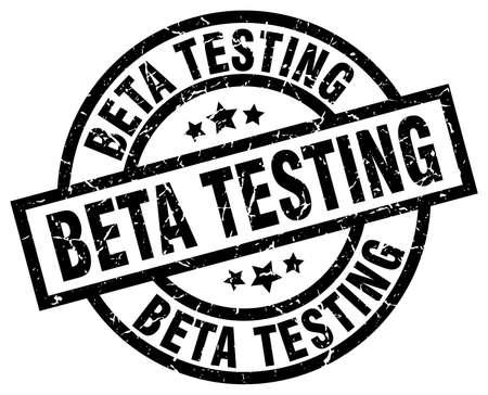 beta testing round grunge black stamp Illustration