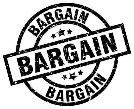 bargain round grunge black stamp
