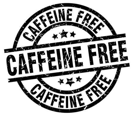 caffeine free round grunge black stamp Illustration