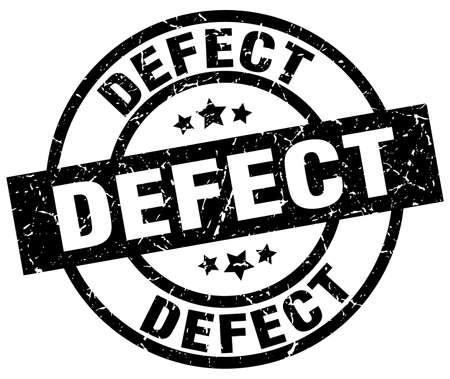 defect round grunge black stamp Illustration